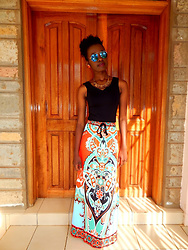Sophie Atieno -  - Lovely Print Maxi Skirt