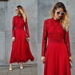 Ruxandra Ioana - Sammydress Dress - Red red wine