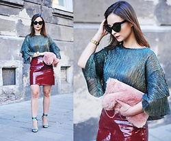 Barbara Kucharska - Brylove Sunglasses, Zara Blouse, Michael Kors Watch, Stradivarius Bag, Zara Skirt, Steve Madden Heels - Sparkle