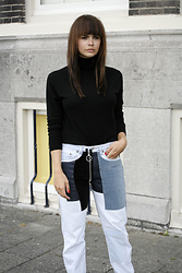 Iris . - Off White Jeans - OFF-WHITE PATCHWORK JEANS