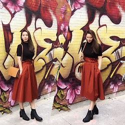 WMwatchme - American Apparel Black Top, Zara Skirt - Hello, October