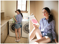Lisa Valerie Morgan - J. Crew Shirt, Abercrombie & Fitch Shorts, Converse Sneakers - Lisa vs. The Laundry Room