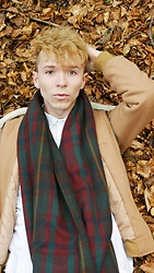 Luke Heywood - Asos Quilted Fur Lined Bomber, Zara Blanket Scarf, Asos Longline White Shirt - Autumn Antics