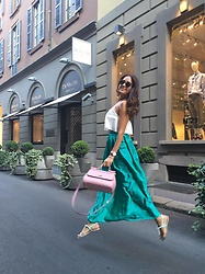 Karolina Terchiieva - Zara Silk Skirt - Flying in Milan! <3