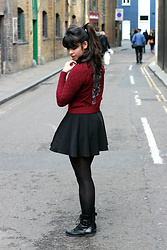 Lauren Evans - Romwe Dress, Primark Boots, Vintage Jumper - Backstreets of London