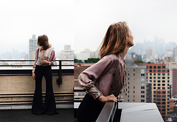 Ola - Zara Shirt, Zara Bell Bottom - NYC