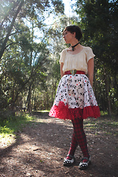 Jennifer Hankin - Home Made Minnie Mouse Skirt, Dr. Martens Polkadot Docs - 50's Disney inspired