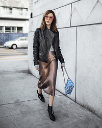 Jenny Tsang - Leather Moto Jacket - Edge Meets Shine