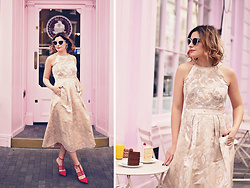 Elena Sandor - Monsoon Dress, Paper Dolls Shoes, Balenciaga Sunglasses - Visit to the cake shop