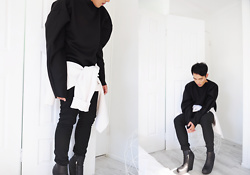 Karl Philip Leuterio - Ninthsheep Sculpted Jumper, Ninthsheep Sweater, Comme Des Garçons Skinny, Rick Owens Wedge - Sculpt + shape