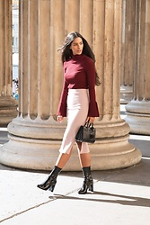 Elvira Vedelago - H&M Ribbed Mock Turtleneck, Ivy Revel Rare Skirt, H&M Ankle Boots - Belle of the Ball