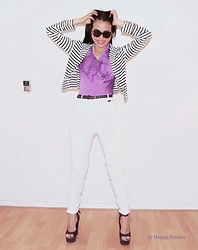 Hanna Painter - Vero Moda Vest, Harry's Horse White Pants, Pear, Made In Italy Shoes - Hey baby