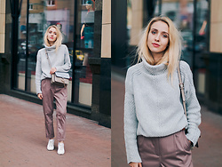 Anna Pogribnyak - Goodnight Macaroon Sweater, Goodnight Macaroon Bag, Grishko Design (Ukraininan Brand) Pants - Sweater weather