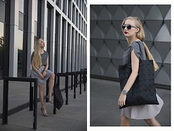 Ewa Michalik - Top Secret Bag, New Look Sandals, Kartel Watch, Breo Sunglasses, Magda Hasiak Dress - Geometric lines