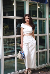 Mimi N. - 3.1 Phillip Lim Pant, Miu Shoes, Hermes Bag - Medici Ivory White