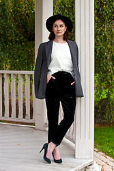 Anna Puzova - Cndirect Hat, Dkny Blazer, Cndirect Top, H&M Pants, Aldo Heels - To Be or Not To Be?