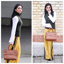 Caterina Catalano - Zara Pullunder, Zara Pants, Mango Blouse, Guess? Bag - In love with autumn