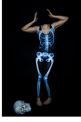 Eva Xebra - Black Milk Clothing Ribs X Ray Swimsuit, Black Milk Clothing Leg Bones X Ray Mf Leggings - Lost Her Head