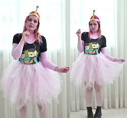 Talitah Sampaio - Diy Top, Diy Skirt - DIY bubblegum princess