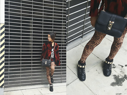 Kylie Rodriguez - Thrifted Bloodred Tiger Coat, Circles En Dots Leopard Leggings, Belle Of The Brawl Black Tank Top, Something Borrowed Black Crossbody Bag, Aldo Studded Sneakers - There's absolutely nothing for us here.