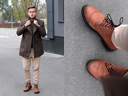 Dmitriy Romashko - Forever 21 Outerwear, Aliexpress Boots, Bershka Pants - Brown october