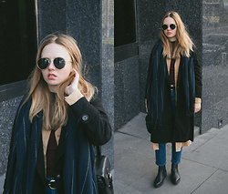 Kristina Magdalina - Rosegal Sunglasses, Zaful Scarf, Wholesale7 Coat, Zaful Shirt, Vipme Bag - MULTILAYER.
