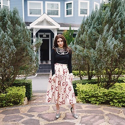 Mimi N. - Gucci Top, Gucci Skirt, Gucci Heels - Properly Preppy
