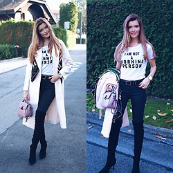 Cristina Gheiceanu - Jollychic Coat, Jollychic T Shirt, Jollychic Bag - I am not a morning person!