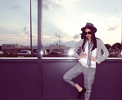 Hanna Painter - Borsalino Hat, Vero Moda Vest, Pants, Italian Manshoes - MD city chic