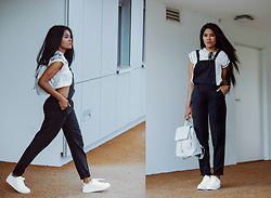 Wallace Yolicia - Esprit Fashion Trainers Sneakers, Splendid Woven Jumpsuit - HAVE YOUR EYES ON BLACK OVERALLS