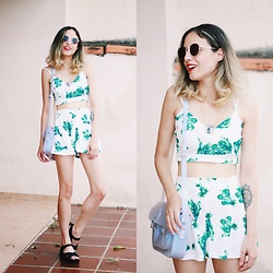 Glena Martins - Zaful Top + Shorts, Melissa Hotness Salinas, Zerouv Sunnies, The Cambridge Satchel Company Melissa + - TROPICAL
