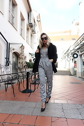 Sonja Kovac - My New Lool Jumpsuit, Vintage Fur Coat, Jimmy Choo Pumps, Fendi Sunglasses - ELEGANT AND CLASSY IN JUMPSUIT