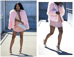 Wallace Yolicia - Saksfifthavenue Tart Rella Faux Fur Coat, Torn By Ronny Kobo Julia Bodysuit, Missguided Nude Faux Leather Skirt, Valentino Rockstud Ankle Strap Pumps, Lauren Merkin Small Leather Pouch Bag W/Tassel, Charcoal - CHEAT ON YOUR FEARS & BREAK UP WITH YOUR DOUBTS