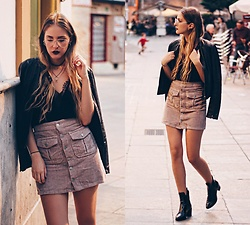 Marta M - Sheinside Top, Pull & Bear Skirt, Zara Boots - Pink obsession