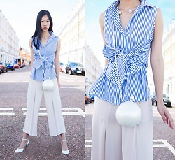 Cissy Zhang - Styled In Paris Oversized Pearl Bag, Shein Bow Blouse - Chic for the street