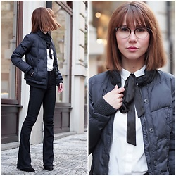 Anastasiia G - Enzzo Glasses, H&M Shirt, Lindex Flared Jeans - Mixing Elegance With Sport