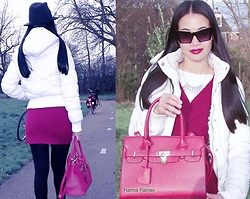 Hanna Painter - Coolcat Jacket, My New Instagram, Sunglasses, Red Bag - Red bag & bike look ))