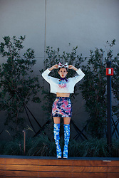 AMINTA ONLINE - Yru Cloud Boots, Thrift Store Tie Dye Skirt - The Sky is the limit!