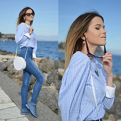 Tamara Bellis - Gamiss Blouse, Tally Weijl High Waist Jeans, Vitacci Boots, Cndirect Sunglasses - Classy and Fabulous