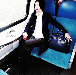 Hanna Painter - Alexander Winter Coat, Mercato Milano Bag, My New Instagram - Look on the train - Hi there, train lovers!! :))
