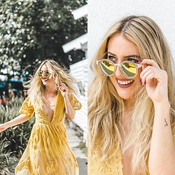 Ashley Prybycien - Wear Me Pro Madison Colorful Vintage Mirrored Sunglasses - Wear Me Pro