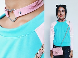 Kylie Rodriguez - Fudge Rock Pink Heart Choker, Jukaykay Pastel Pullover, Chanel Pink Mini Caviar - This meant more to you than it did to me.
