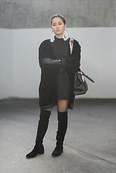 Romina Ch - Mercedes Salazar Earrings, Vintage Jacket, Minelli Boots - Black Is Still The New Black