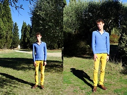 Wilfried L - Massimo Dutti Blue Sweater - Indian Summer