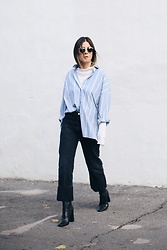 Elif Filyos - H&M Striped Shirt, Citizens Of Humanity Jeans, Zara Sock Boots - Not So Subtle