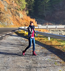 Getman Marina - Alcott Shoes, Alcott Sweater, Bershka Jacket - Mountains. Sun. Italy