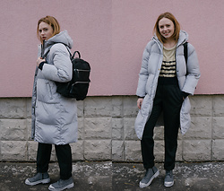 Kristina Magdalina - Rosewholesale Coat, Kolonmall Pants, Rosewholesale Backpack, Wholesale7 Boots - OVERSIZED COAT.