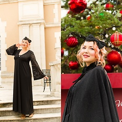 Alice Duporge - Matfashion Black Long Dress, F21 Bow Headband - Christmas in Black ♥