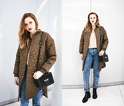 Kristina Magdalina - Sammydress Coat, Zaful Bag, Zaful Sweater, Wholesale7 Jeans - Winter outfit.