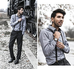 Bobby Raffin - Jord Watches Wooden Watch, Le Chateau Dress Shirt, Guidomaggi Elavated Shoes - Train to Winter Wonderland